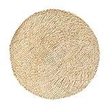 Ototon - Juego de mesa de tejido a mano, antideslizante, resistente al calor, impermeable, redondo, para decoración de bohemia para casa, cocina, 2 unidades