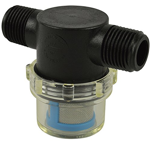 PLS-S38B-NCB-050 3//8 Hose Barb In-Line Strainer with 50 mesh stainless steel filter screen VacMotion Inc