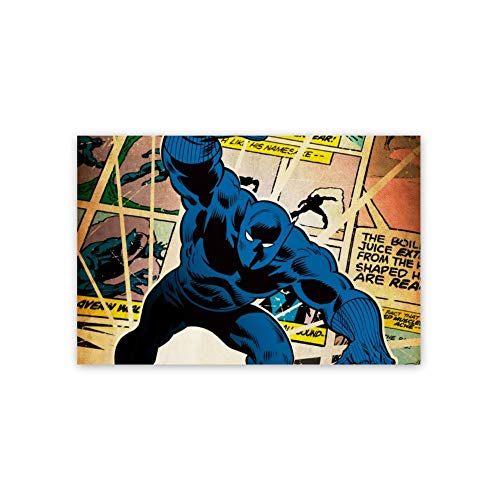 Poster,All Hail King Black Panther Wakanda Forever Chadwick Boseman(11),3D Print Wall Art for Living Room,Bedroom,College Dorm Home Decorations Giclee Oil Paintings,16x24 inch Self-Adhesive