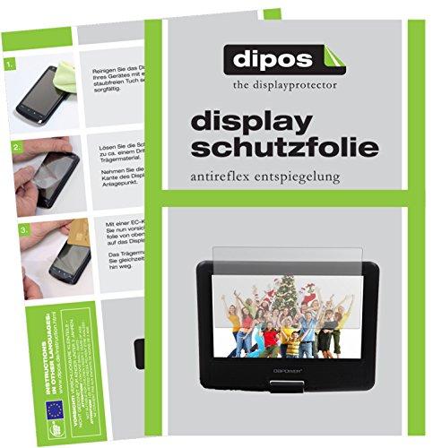 dipos I 3X Schutzfolie matt kompatibel mit DBPower 9,5 Zoll Tragbarer DVD-Player Folie Displayschutzfolie