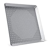 Square Pizza Pan for Oven, Beasea 11.8 Inch Pizza Pan with Holes Aluminum Alloy Pizza Oven Tray Pizza Crisper Pan Pizza Baking Tray Bakeware for Home Restaurant Kitchen