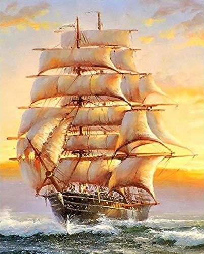 Puzzle 500 Piezas Barco De Vela para Adolescentes Y Adultos El Rompecabezas De 52X38Cm Amigos Y Familiares