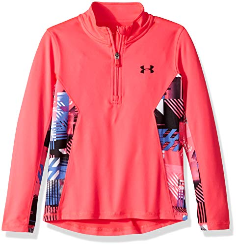 Under Armour Girls' Little Training 1/4 Zip Sweater, Penta Pink Interface, 6