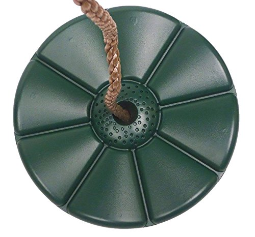 Gartenpirat Tellerschaukel Kunststoff Schaukelsitz rund Farbe grün