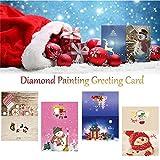 Tarjeta de papel de pintura DIY 5D Diamond, tarjeta de pinturas pegadas con diamantes de diamantes de imitación de cristal, artesanía de arte para Navidad, tarjetas postales de punto de cruz regalo p