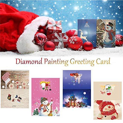 LXDDP Tarjeta felicitación Navidad DIY 5D Diamond