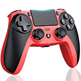 Kydlan Controller for PS4, Wireless Controller for PS4 Gaming Remote, Modded Gamepad with Touch Panel/Audio Function/6-Axies Sensor/Dual Shock for Playstation 4/Pro/Slim(Red+Orange, Upgraded)