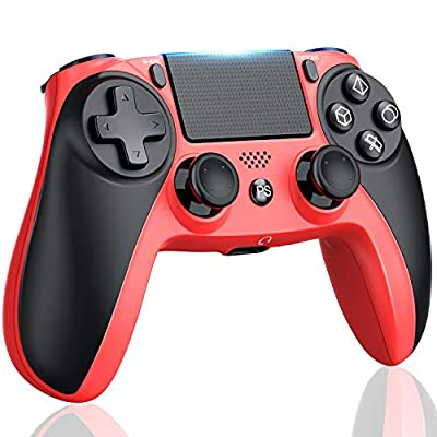 Kydlan PS4 Controller for Playstation 4/Pro/Slim, Wireless Remote Controller for PS4 Game, Modded Gamepad for PS4 Compatible with Dual Shock, LED Flashing