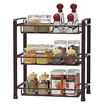 Spice Rack, Veckle 3 Tier Kitchen Bathroom Coun...
