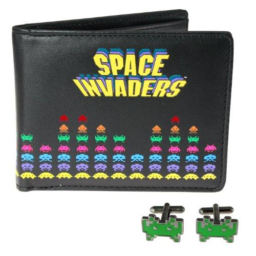 50Fifty SPA011 - Space Invaders Geldbeutel und Manschettenknöpfe Set