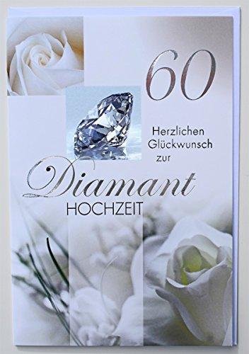 Glückwunschkarte Diamanthochzeit 60 Jahre Hochzeitstag