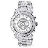 Iced Out Diamond Watch with Chronograph 2ctw of Diamonds by Luxurman Escalade