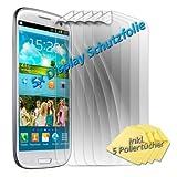 5 x numia LCD Protector de pantalla para Samsung i8190 i8195 Galaxy S3 SIII Mini (antirreflectante transparente) Protector de pantalla con gamuza de limpieza Guard Protector de Pantalla de protección, nuevo