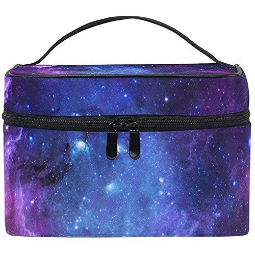 Trousse De Toilette Nébuleuse Violet Galaxy Cosmétique Sacs Voyage Maquillage Train Cas De Stockage Organisateur