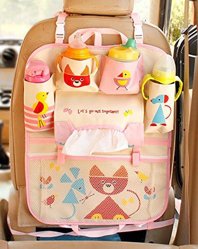 CiMi Arrière Backseat Organizer Cartoon Mignon Bébé Voiture SUV Pliage Sac Baby Voyage Accessories Kids Toy Storage Jouet Sac à Main Maman