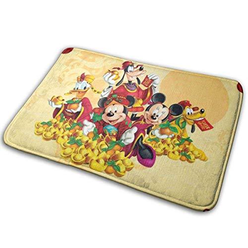 LVOE TTL Mickey Mouse Frohes Neues Jahr-Indoor Outdoor Outdoor Teppich Teppich Fußmatten Schuhschaber Anti-Rutsch 15,7x23,5 Zoll