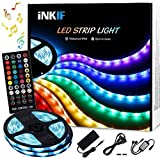 LED Strip Lights, Sync to Music 32.8ft/10m Waterproof RGB LED Light Strips Flexible 5050 Neon Lights 300LEDs Rope Lights with 40 Key Remote for Room, Bedroom, TV, Party, Children's Room Gift