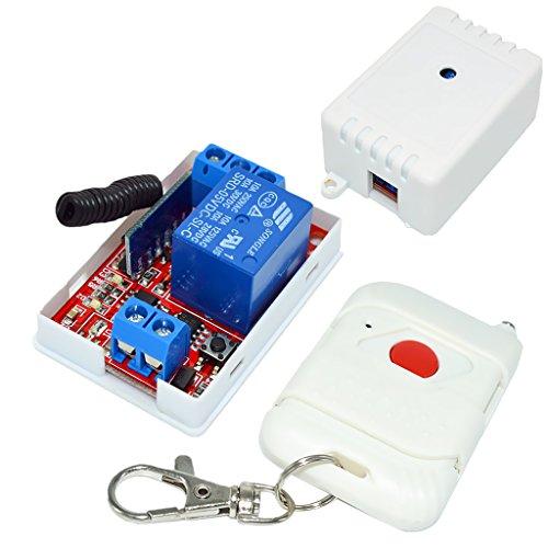 gazechimp Interruptor de Relé de 5V Y 1 Canal Módulo 433M Receptor Controlador Blanco de 1 Botón