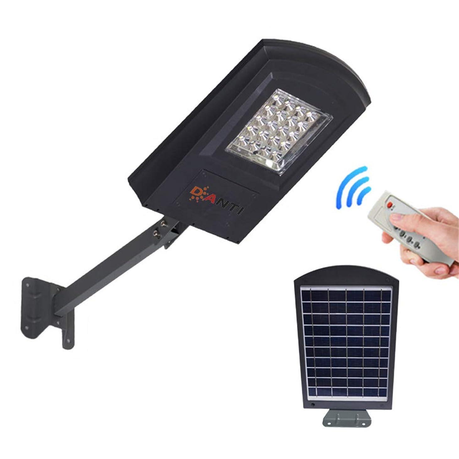 立法簡単な粒子20W LEDソーラー街路灯、リモートコントロール、駐車場、スタジアム、庭、ガレージ、庭のための理想と屋外の夕暮れ夜明けポールライト