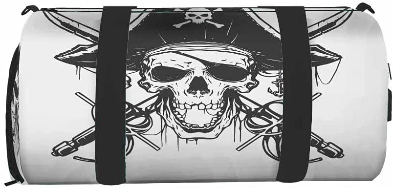 IBILIU Cool Pirate Skull New Shipping Free Shipping Gym Bag for Ranking TOP7 Women Duffel Men Sport