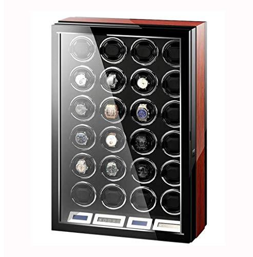 24 Posiciones Enrollador de Reloj, Reloj mecánico Caja de bobinado automático Cajas de Almacenamiento