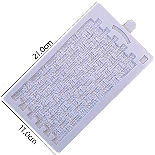 Review JYEMDV Rustic Basket Weave Mould Silicone Mold Fondant Cake Decorating Tool Gumpaste Sugarcra...