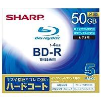 シャープ 4倍速対応BD-R DL 5枚パック 50GB ホワイトプリンタブルSHARP VR-50DR5 [エレクトロニクス]