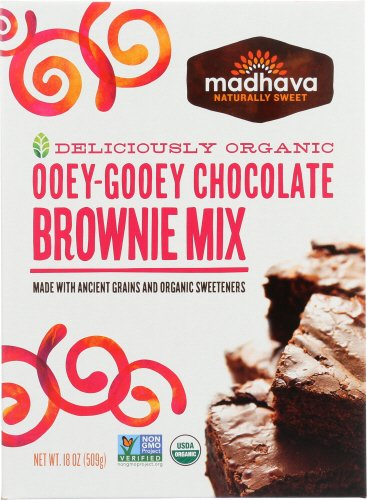 Madhava Naturally Sweet Organic Ancient Grains Baking Mix, Ooey-Gooey Chocolate Brownie, 18 Ounce, Pack of 6 (PACKAGING MAY VARY)