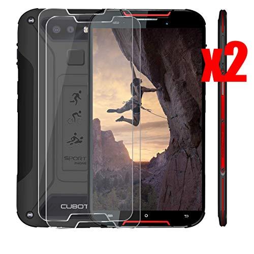 QFSM 2 Pack Película Protectora para CUBOT Quest Lite 2019, Resistente al Desgaste Protector de Pantalla para teléfono móvil Vidrio Templado