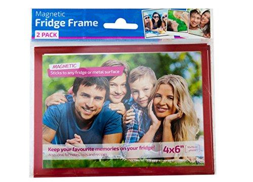 2 Pack Magnetic Fridge Frames (Red)