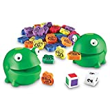 DEVELOP FINE MOTOR SKILLS: Reinforce numbers, counting, and color recognition while strengthening fingers and hands IMPROVE: Strengthen fingers, hands and the important pincer grasp COLORFUL UNPLUGGED PLAY: Set includes 2 rubber frogs, 60 flies in si...