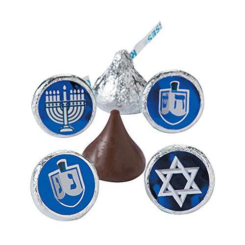 Fun Express - Hanukkah Kiss Stickers for Hanukkah - Stationery - Stickers - Stickers - Roll - Hanukkah - 1 Piece