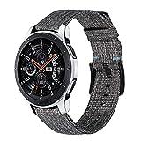 Relacionamiento de la correa para Samsung Galaxy Watch3 45mm / engranaje S3 / Galaxy Watch 46mm reloj de reloj, 22 mm liberación rápida tejida de nylon reloj correa deportiva Pulsera correas de reloj
