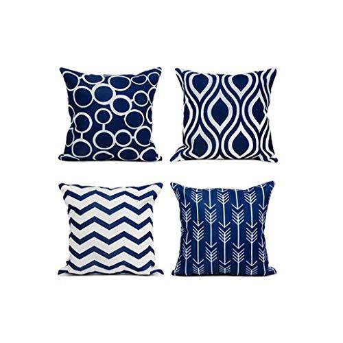 Haast kopen Moderne Eenvoudige Geometrische Vierkante Kussenhoezen voor Bank, Bed, 18 x 18 Inch, Set van 4 Kussens Thuis Decor