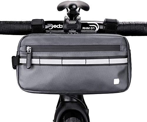 UBOMI - Bolsa de manillar modelo 5, color negro