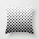 Heißes geometrisches gestreiftes Schwarzweiss-Baumwollkissen im minimalistischen nordischen Stil 15...