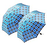 """Nautica 2-Person Auto Open Umbrella - Sturdy Rainy Day Protection with Ergonomic Handle, 56"""" of Coverage in Blue 2-Pack"""