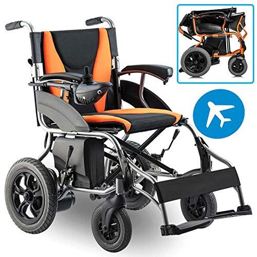 Elektrorollstuhl zusammenklappbar Leichtgewicht mit 18Ah Lithiumbatterie, Hochleistungshalter 120 kg, Elektrische Elektrorollstühle Langlebig, sicher Leicht zu fahrende Rollstühle