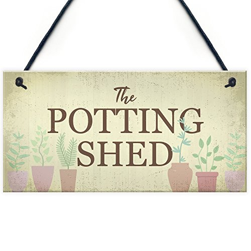 RED OCEAN The Potting Shed Plaque Garden Greenhouse Sign Dad Grandad Mum Nan Birthday Gift