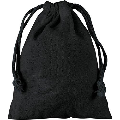 Textildruck Plauen Stoffbeutel 15x20cm Kleidersacke Wäschesack Zuziehbeutel mit Kordelzug Viele Farben (Schwarz, 5)