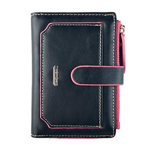 INDRESSME Womens Wallet Candy Color Bifold Mini Vintage Card Holder Compact Wallet Case