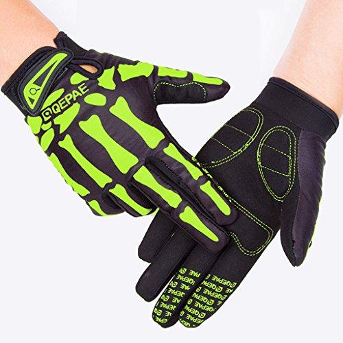 Tofern heren/jongens handschoenen fiets handschoenen volledige vinger warme winter voor fiets skelet doodshoofd