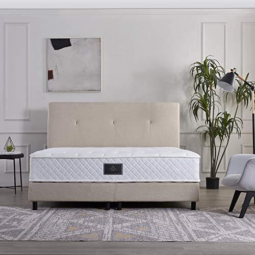 V6 Somier cama 207 de la mejor relación calidad-precio (180 x 200 cm, altura 4, beige)