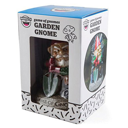 "Big Mouth Inc. Game of Gnomes Garden Gnome – Comical Garden Gnome, Hand-Painted Weatherproof Ceramic Lawn Gnome, Makes a Great Gift, 9.5"" Tall"