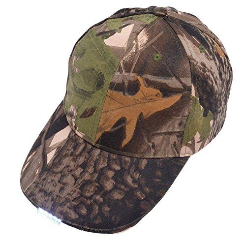 Chapeau noir avec lampe frontale / 5 LEDs lumineuses / Casquette de baseball unisexe / Facilement ajustable / Taille unique / Lampe de poche pour la chasse, le jogging, la pêche à la ligne
