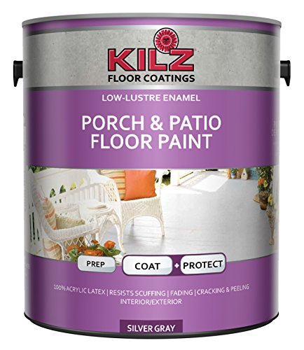 KILZ L573611 Interior/Exterior Enamel Porch and Patio Latex Floor Paint, Low-Lustre,...
