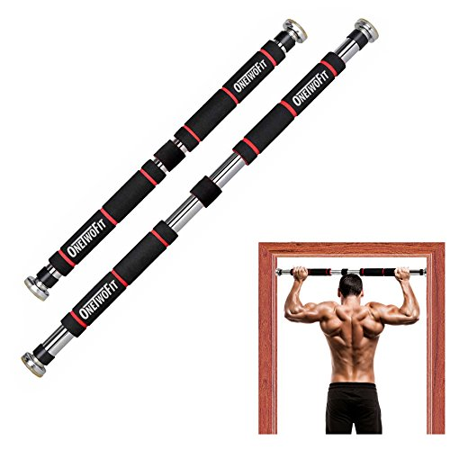 OneTwoFit Pull Up Bar door frame, adjustable to doors with a width of 65 - 85 cm/pull up bar made of sturdy steel, 3 installation methods - max user weight up to 150kg HK664