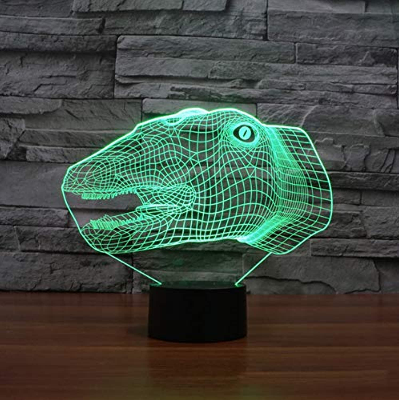 Dinosaurier 3d lampe led tier 7 farben ndern nachtlicht usb tisch schreibtischlampe schlafzimmer nacht acryl licht leuchte dekor geschenke