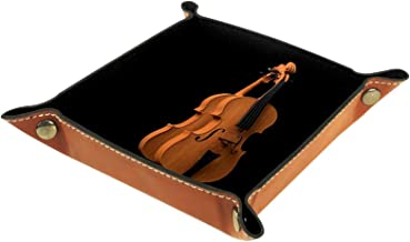 Yumansis Składana taca na kostki, uchwyt na kostki ze skóry PU tace do wałków RPG D&D i innych gier stołowych skrzypce 16 ...