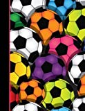 Composition Notebook: Soccer Ball College Ruled Lined Pages Book for Girls (7.44 x 9.69)